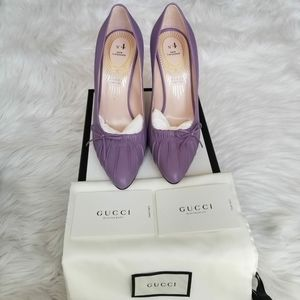 Gucci New Lavender Leather Cruise Pump
